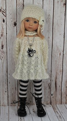 Little Darling Doll Clothes Crochet Doll Clothes, Knitted Dolls, Girl Doll Clothes, Doll Clothes Patterns, Doll Patterns, Clothing Patterns, Girl Dolls, Baby Dolls, Barbie Clothes