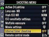 For Christmas morning!  Explanations and tips for each single setting of the Nikon D7000: Shooting menu / Interval timer shooting