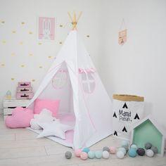 Children's teepee, playtent, tipi, zelt, wigwam, kids teepee, tent, play teepee, wigwam with mat- Snow Queen