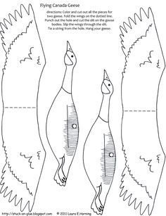 Give Your Octopus a Paintbrush (or 8): Printable: Flying Geese.