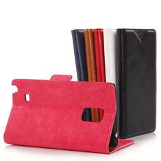 [US$5.49] Flip PU Leather Protective Case For Samsung Note Edge N915F N9150  #case #edge #flip #leather #n9150 #n915f #note #protective #samsung