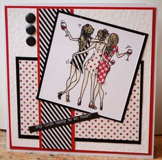 I just can't get enough of this best friends stamp that came with Making Cards magazine a few months ago! This time I've paper pieced t. Elegant Lady, Beautiful Handmade Cards, Making Cards, Cards For Friends, Onions, Besties, Stamping, Card Ideas, Female