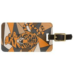 Amazing Tiger Abstract Art Design Travel Bag Tag #tigers #art #abstract #luggagetags And www.zazzle.com/inspirationrocks*