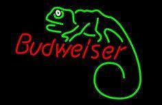 Budweiser Louie Lizard Neon Beer Sign