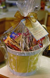 Candy Basket with Coordinating Poem