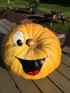 Pop Culture Halloween Costume, Halloween Themes, Halloween Crafts, Fall Pumpkins, Halloween Pumpkins, Mason Jar Pumpkin, Chevron Pumpkin, Pumpkin Carving, Pumpkin Painting