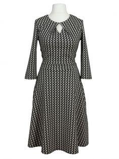 Damen Jerseykleid, schwarz weiss von Egerie Paris bei www.meinkleidchen.de