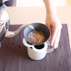 A coffee in hand drip