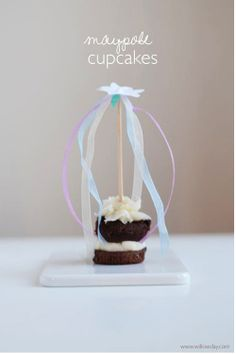 Make May Pole Cupcake Toppers // willowday (or any may flower day!)