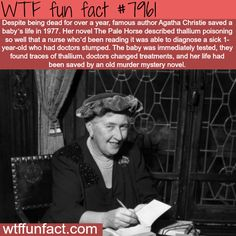 Agatha Christie - WTF fun fact