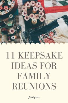 When planning a family reunion, it's always good to think about details such as any mementos or souvenirs you'd like to create ahead of time, whether to remember the reunion or for attendees to take home. Here are some ideas for both types of keepsakes.