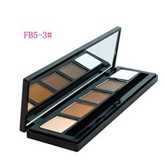 Pure Vie Professional 5 Colors EyeShadow  Eyebrow Palette Makeup Contouring Kit 3  Ideal for Salon and Daily Use * Check this awesome product by going to the link at the image.