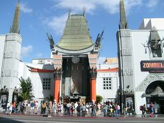 Mann's Chinese Theatre - Hollywood CA. I was here to see all the celebs, but I was spotted and ended up giving my first autograph. How wired is that ? :-)