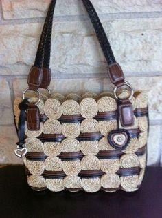Brighton Straw & Leather Purse - cute summer bag