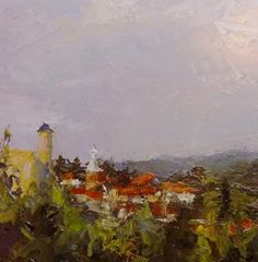 Donna Shiver Daily Works: Portuguese Village, oil on 6 x 6 panelApple A Day ...