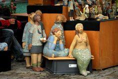 Foto and ceramicof German de Juana  Fair: Töpfermarkt Hüfingen, Baden-Württemberg.