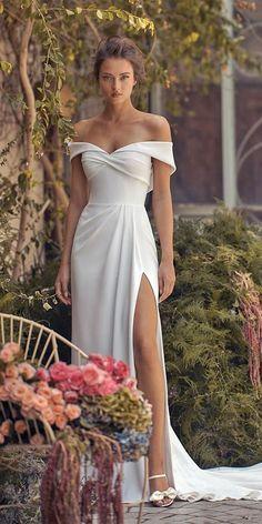 Slit Wedding Dress, Perfect Wedding Dress, White Wedding Dresses, Designer Wedding Dresses, Bridal Dresses, Mermaid Dresses, Simple Short Sleeve Wedding Dress, Petite Bride Wedding Dress, Ball Dresses