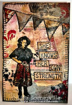 Mixed Media - stamps Artistic Outpost Cowgirl Strength
