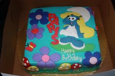 smurfs cakes Top Smurfs Cakes birthday party girl boys schtroumphs