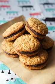 Settle back with a chewy, chocolatey biscuit treat with these delicious Kingston cookies - better than the original if we do say so ourselves. Gourmet Recipes, Baking Recipes, Sweet Recipes, Cookie Recipes, Dessert Recipes, Biscuit Cookies, Biscuit Recipe, Kingston Biscuits, Biscotti