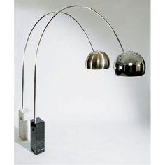 Arco Floor Lamp White Square Base