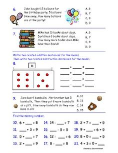 Common Core Standards Math Assessment for Second Grade