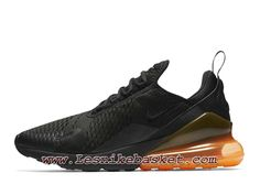 e01aaffb03d Running Nike Air Max 270 Orange Heel Unit AH8050 008 Chaussures Nike Prix  Pour Homme Noires
