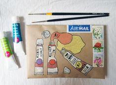 Paint tubes snail mail