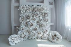 Цветочная стена/свадебный декор/paper flowers