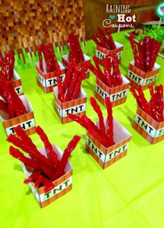 Name a snack. There's a Minecraft tag for that.   31 DIY Birthday Party Ideas That Will Blow Your Minecraft