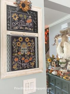 Good morning friends!  Hope your Labor Day weekend was good! Sunflower Manor is my chalkboard to cross stitch collaboration between Hand...