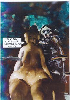 Statue Galatea ist lebendig begraben. Aus ihrem tierischen Lover wird Fischfutter.
