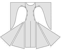 A costume medieval Bliaut pattern with big triangular gores