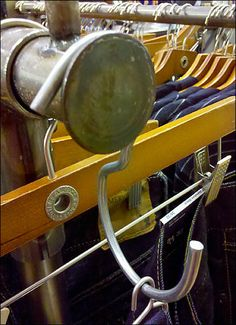 The title you see is All Wire Rack-end S-Hook With A Twist. I was tempted but then hesitated to call this S-Hook with a twist Faceout-end fixture. Wire Racks, Hooks, Retail, Sign, Create, Closet, Ideas, Armoire, Signs