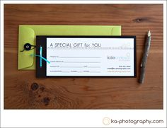Gift Certificate design & packaging