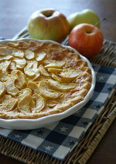 Apple Chess Pie (Apfelkuchen mit Cremeguss)
