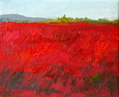 Blueberry BARRENS of Maine Expressive small by MyMainePaintings, $55.00