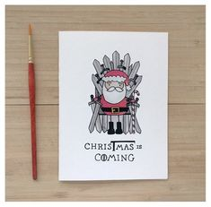 CHRISTMAS IS COMING // game of thrones got game of thrones christmas card christmas pun fandom card iron throne winter is coming pun Game Of Thrones Karten, Game Of Thrones Cards, Got Game Of Thrones, Game Of Thrones Gifts, Funny Christmas Cards, Etsy Christmas, Christmas Games, Christmas Ecards, Christmas Birthday