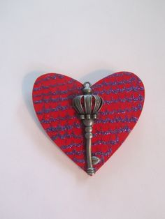 Red Heart Brooch, Valentine Brooch,Valentine Heart Pin,Red Heart Pin,Valentine Jewelry,Valentine Gift,Steampunk Heart Pin,Kilt Pin,Scarf Pin by BrownBeaverBeadery on Etsy