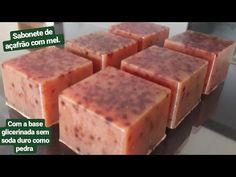 Faça sabonetes de açafrão com mel com a base glicerinada sem soda duro como pedra. - YouTube Cold Process Soap, Soda, Natural Health, Stencils, Cosmetics, Chocolate, Diy, Ratatouille, Soap Recipes