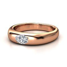 Oval Diamond 14K Rose Gold Ring
