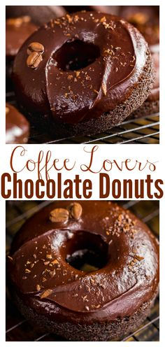 Coffee Lovers Chocolate Cake Donuts - Baker by Nature Chocolate Cake Donuts, Chocolate Fudge Frosting, Chocolate Coffee, Baking Chocolate, Baked Donut Recipes, Baked Donuts, Doughnuts, Coffee And Donuts, Coffee Dessert