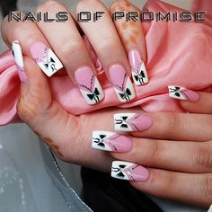 Valentine Bow on Pink - Nail Art Gallery