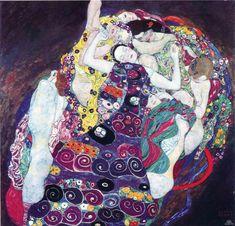 Gustav Klimt: La vergine (1913) olio su tela 190x200. Stile: Art Nouveau. Periodo: Opere mature