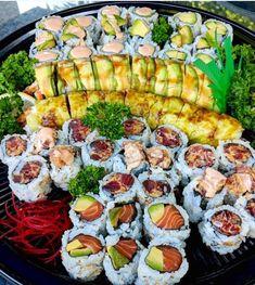 I Love Food, Good Food, Yummy Food, Healthy Food, Tasty, Salty Foods, Sushi Recipes, Food Goals, Sashimi