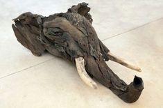 Elephant Head from driftwood by Tony Fredricksson
