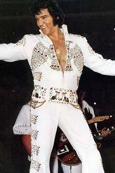 """Elvis - """"The American Eagle Jumpsuit"""" from Hawaiian concert.  1973"""