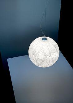 Japanese paper pendant lamp MOON - DAVIDE GROPPI