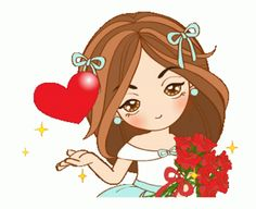 Love Cartoon Couple, Cute Cartoon Girl, Cute Love Cartoons, Love You Gif, Cute Love Gif, Cute Love Pictures, Gif Pictures, Emoji Images, Cartoon Images