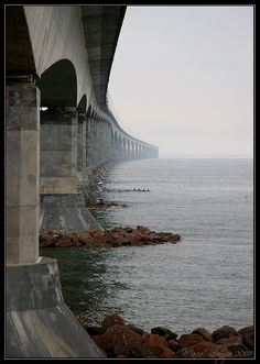 Confederation Bridge between New Brunswick & Prince Edward Island, Canada. That would be neat to run on..